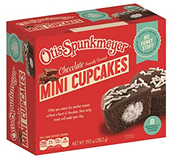 Otis Spunkmeyer Frosted Mini Creme Filled Chocolate Cupcakes With