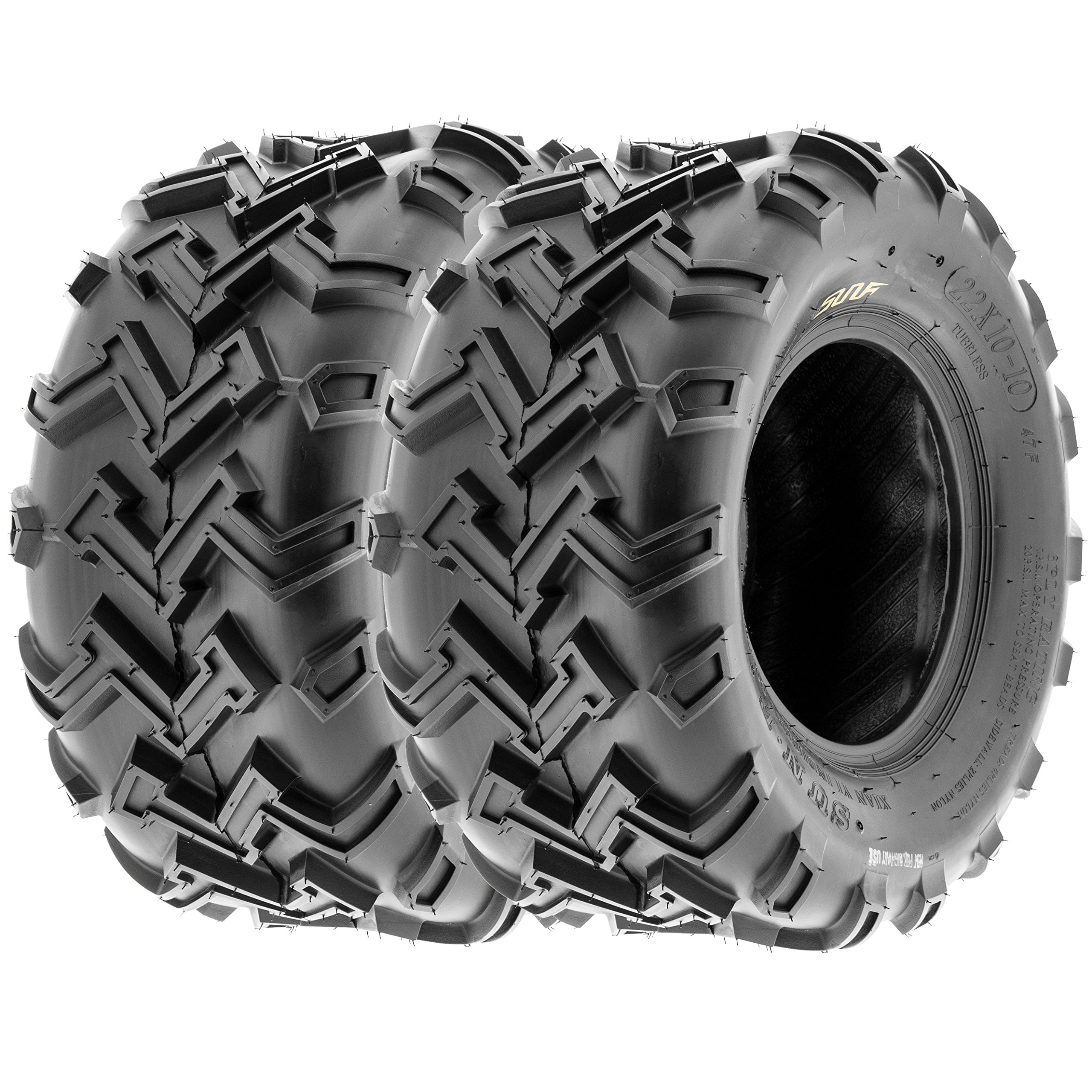 SunF ATV UTV Rear Tires 22x10-10 22x10x10 4 PLY A001 (Set Pair of 2)