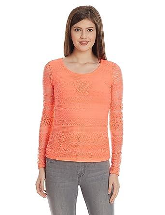 1c37e70a8c3 FabAlley Women's Lace T-Shirt
