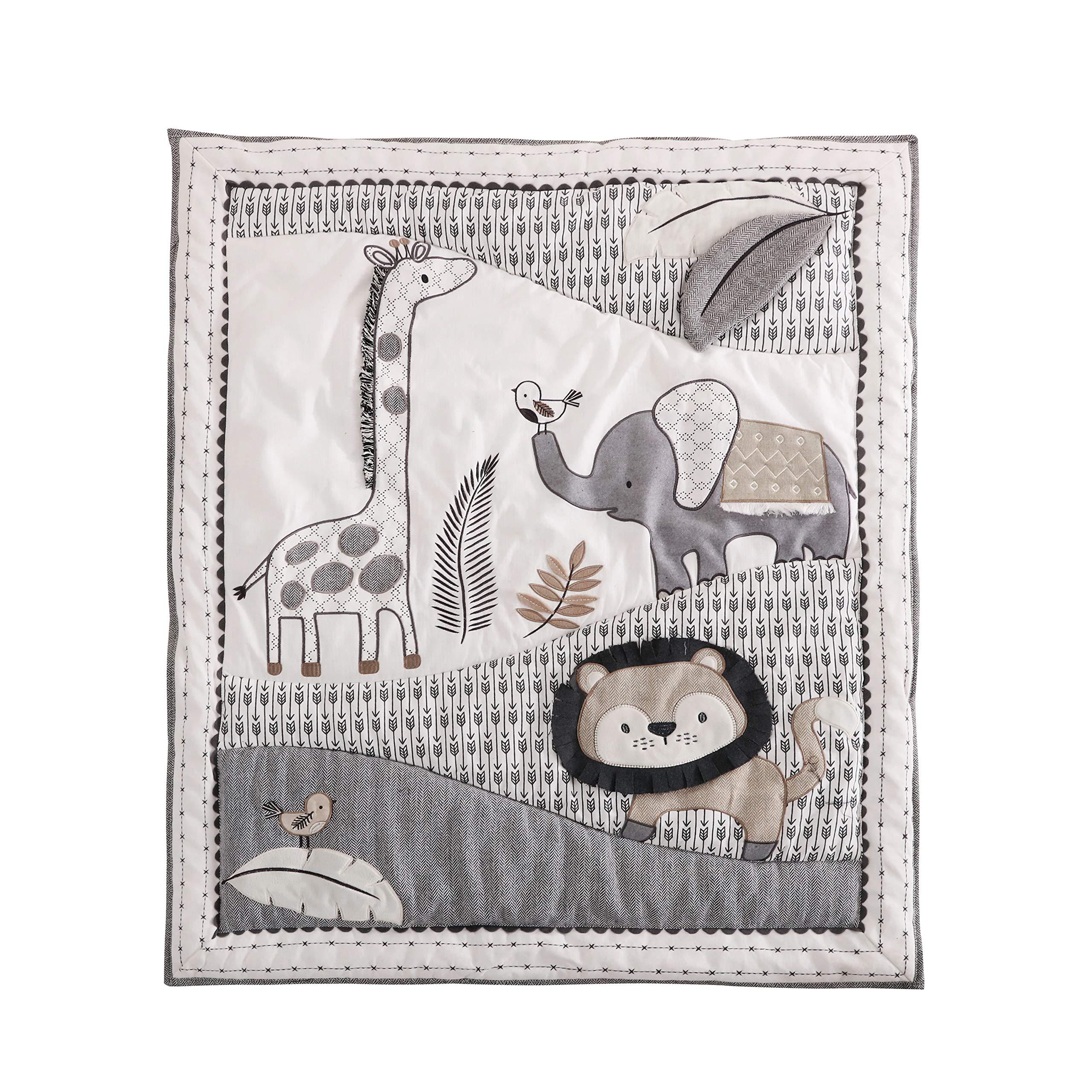 Levtex Baby Tanzania Neutral 5-Piece Crib Bedding Set, Grey/Black/Cream/Tan by Levtex (Image #2)