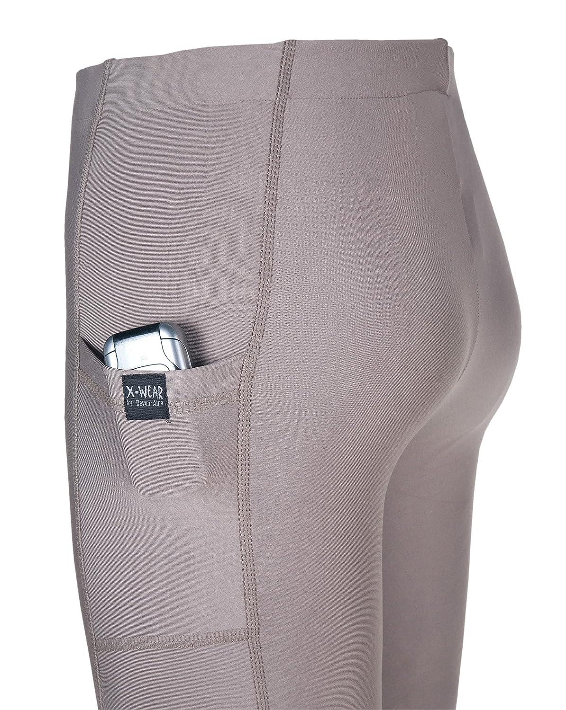 DEVON-AIRE Ladies Sensation/Cell Phone Pocket Tights Graphite Large 307GRALRG