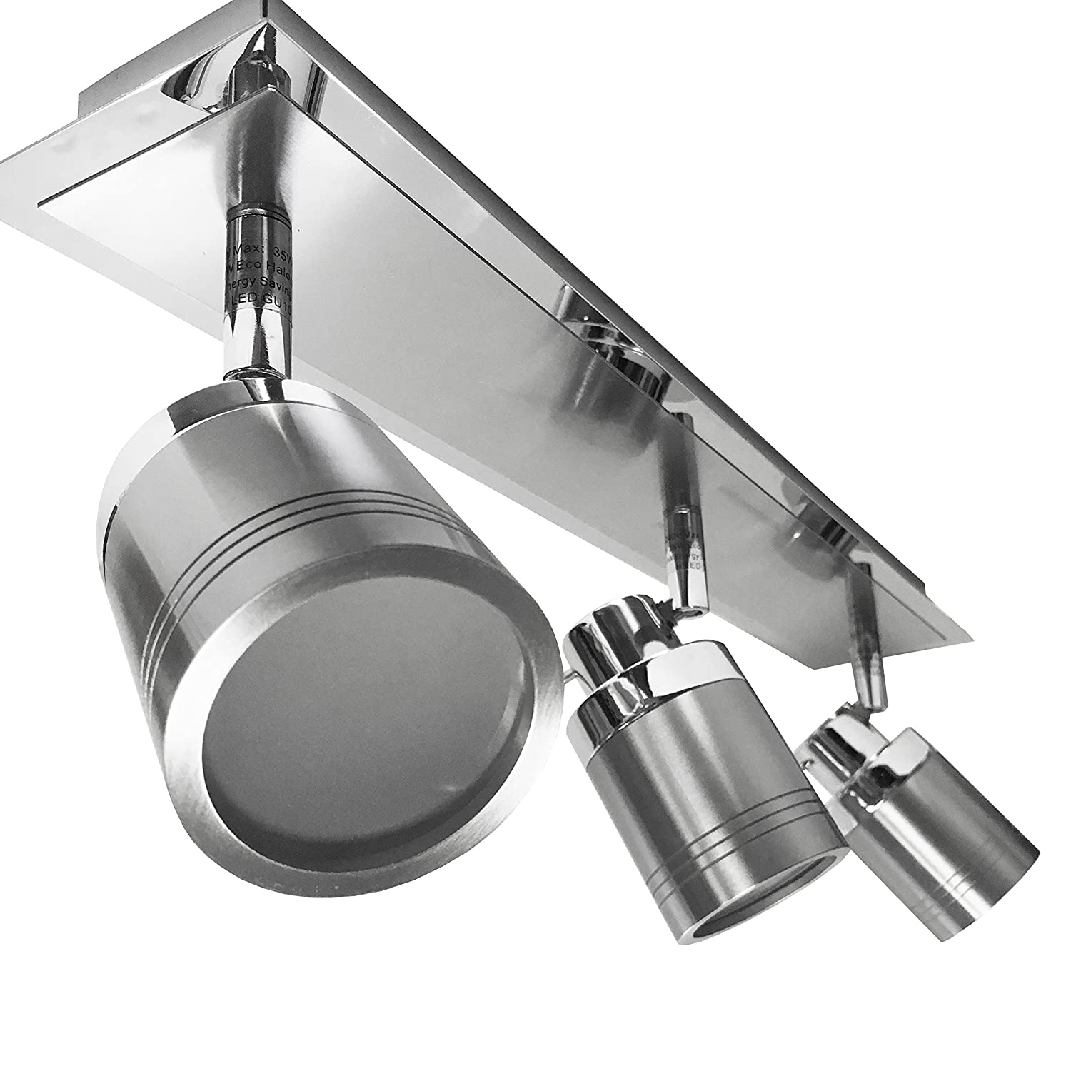 Directional 3 Head ~ Bar Fitting ~ Chrome and Brushed Chrome ~ IP44 Rated ~ Spotlight ~ Suitable for Bathrooms (Bar Fitting) PowerSave®