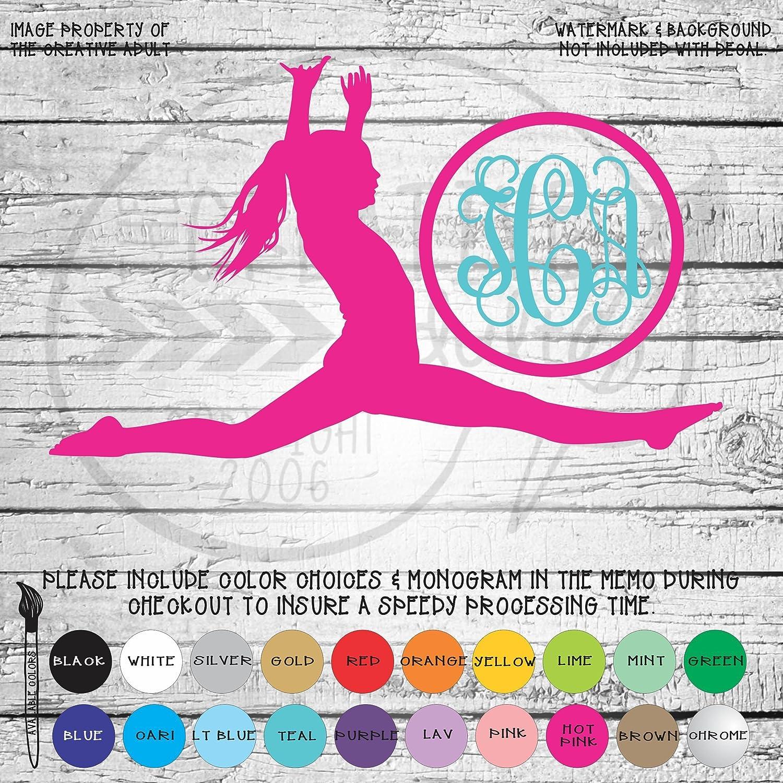 Amazon.com: Gymnastics Monogram Vinyl Die Cut Decal Sticker ...