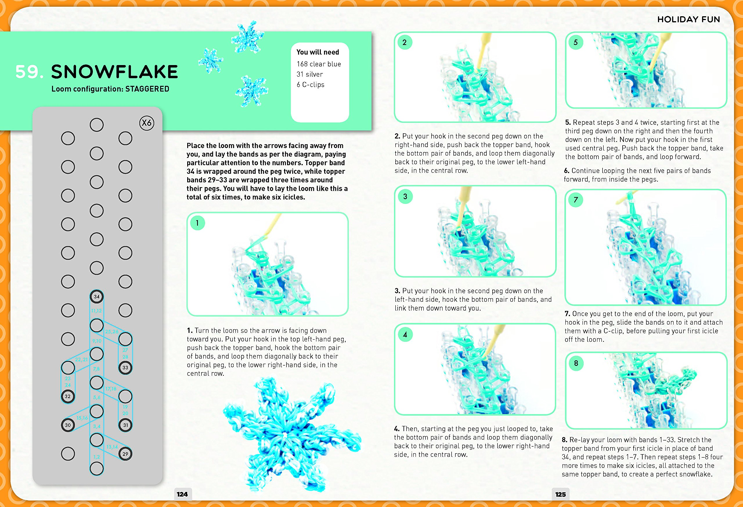 Loom Band It: 60 Rubberband Projects for the Budding Loomineer by Barron's Educational Series (Image #8)