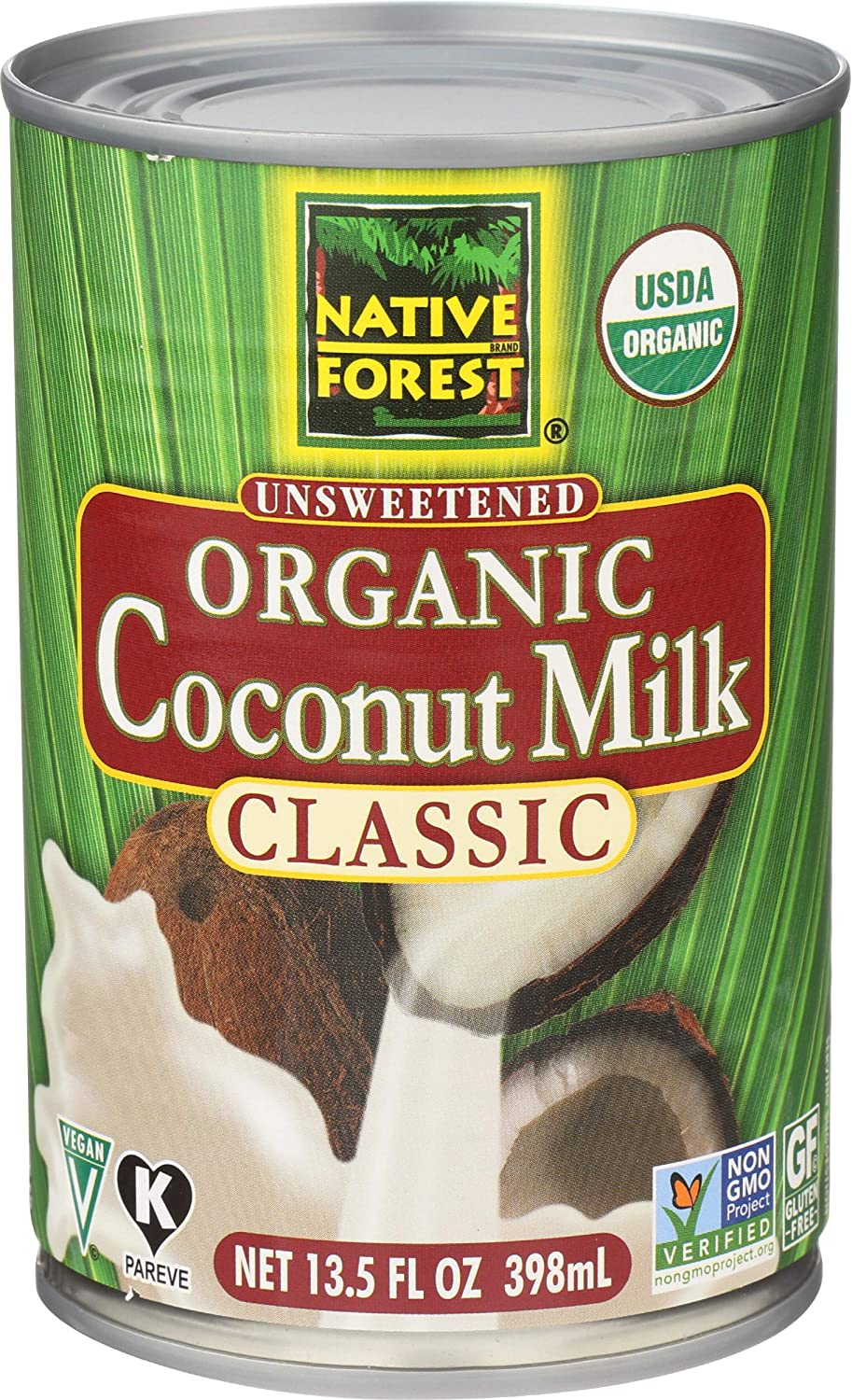 Native Forest Organic Classic Coconut Milk Cans - 13.5 oz