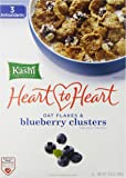 Kashi, Heart to Heart, Oat Flakes & Wild Blueberry Clusters, 13.4 oz