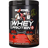 Six Star Whey Protein Plus, Protein Powder, Triple Chocolate, 4 Pound