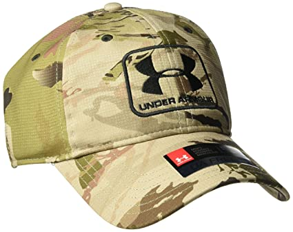 8d883bef829 Amazon.com  Under Armour Men s Camo Stretch Fit Cap  Sports   Outdoors