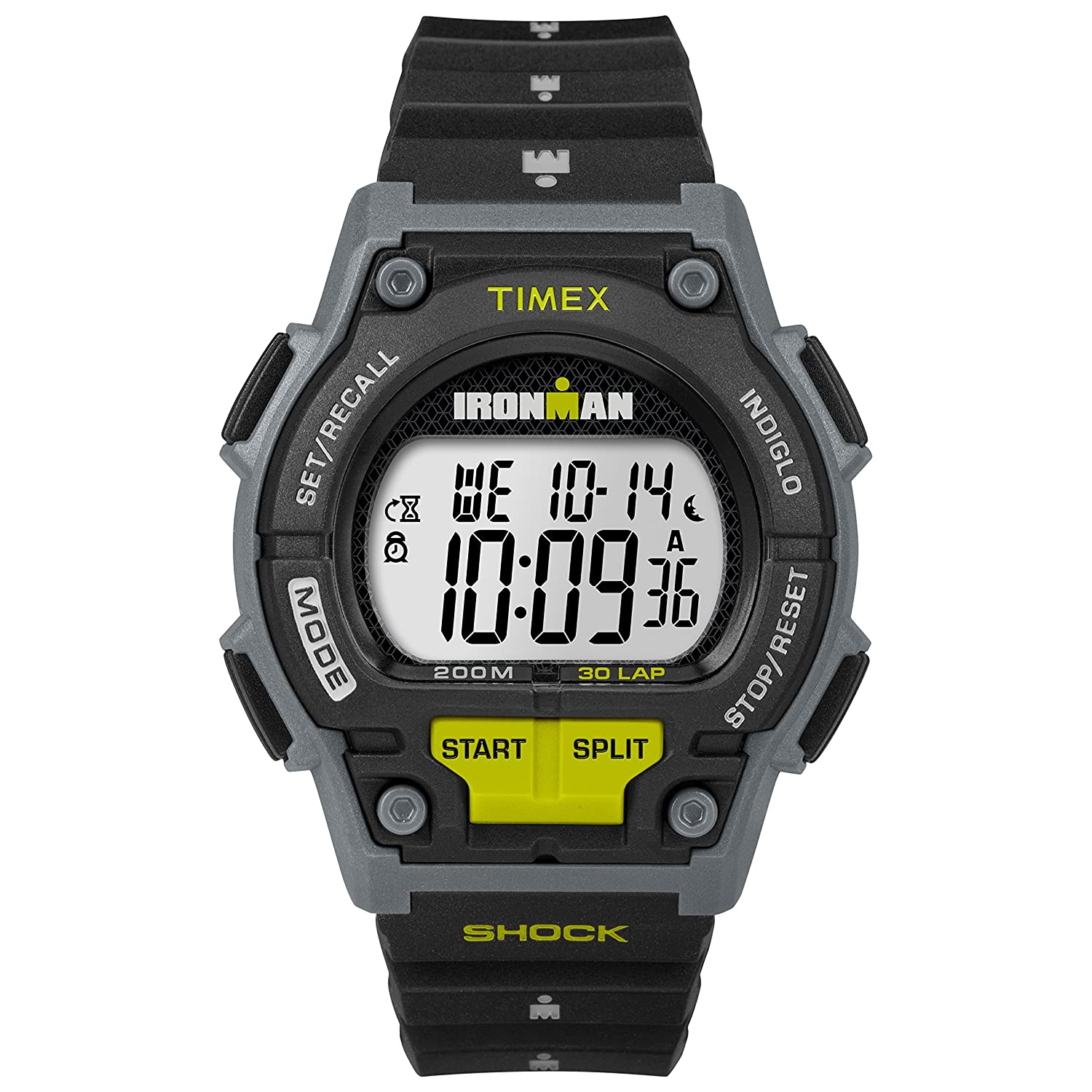 Amazon.com  Timex Men s T5K195 Ironman Original 30 Shock Full-Size  Black Yellow Resin Strap Watch  Timex  Watches 3674535545