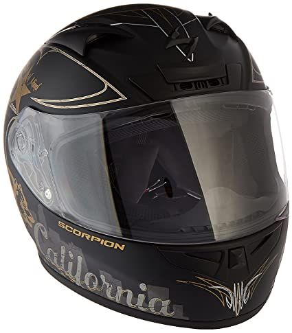 Scorpion EXO-R710 Golden State Street Motorcycle Helmet (Black, Large)