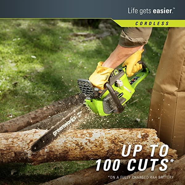 Greenworks 16-Inch 40V Cordless Chainsaw reviews