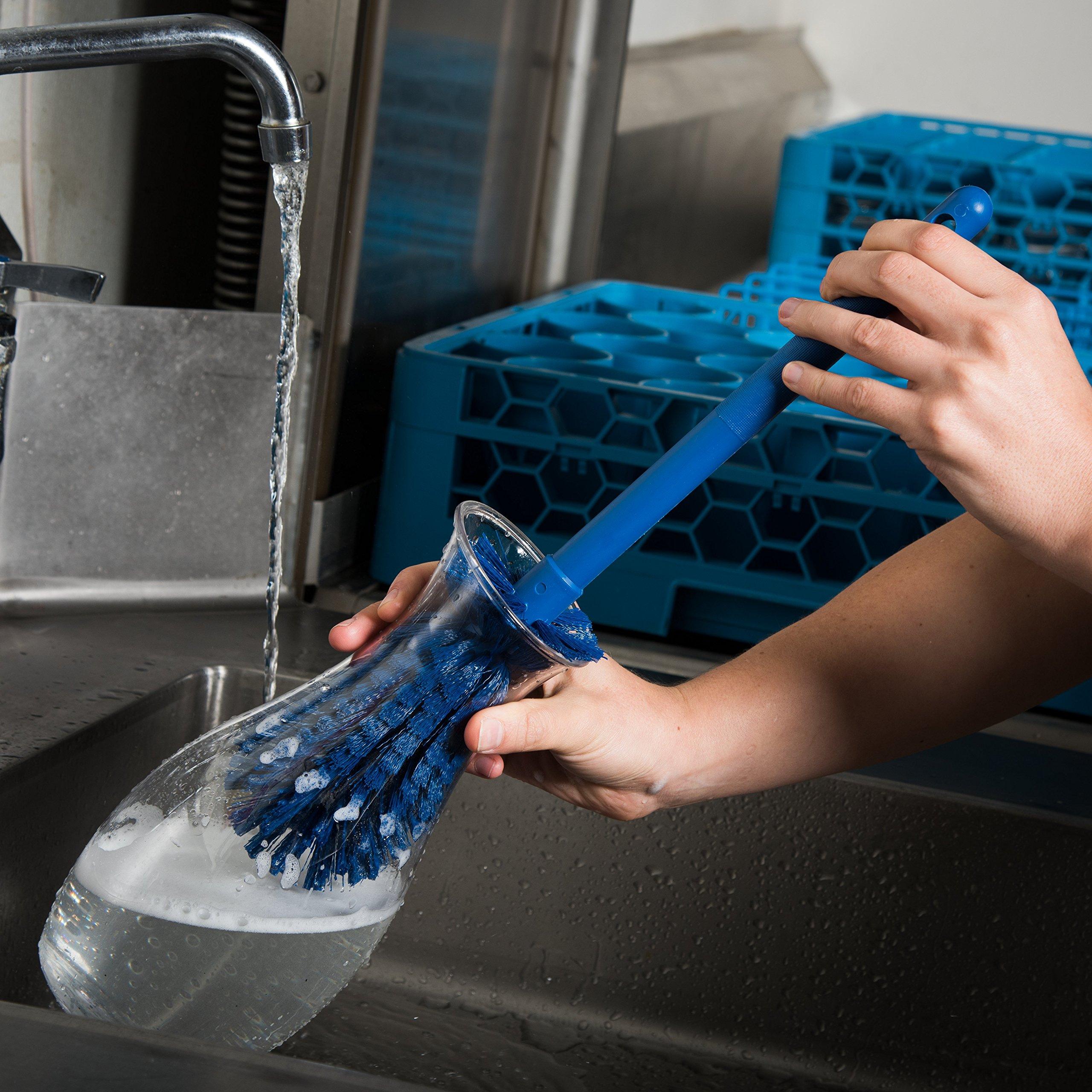 Carlisle 40001C14 Commercial Bottle Brush, Polyester Bristles, 16'' Length, Blue (Pack of 6) by Carlisle (Image #5)