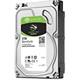 Seagate Hard Disk ST3000DM008 3TB SATA3 HardDisk HD Interno 64MB 3000GB HDD 7200RPM BarraCuda Computer Desktop