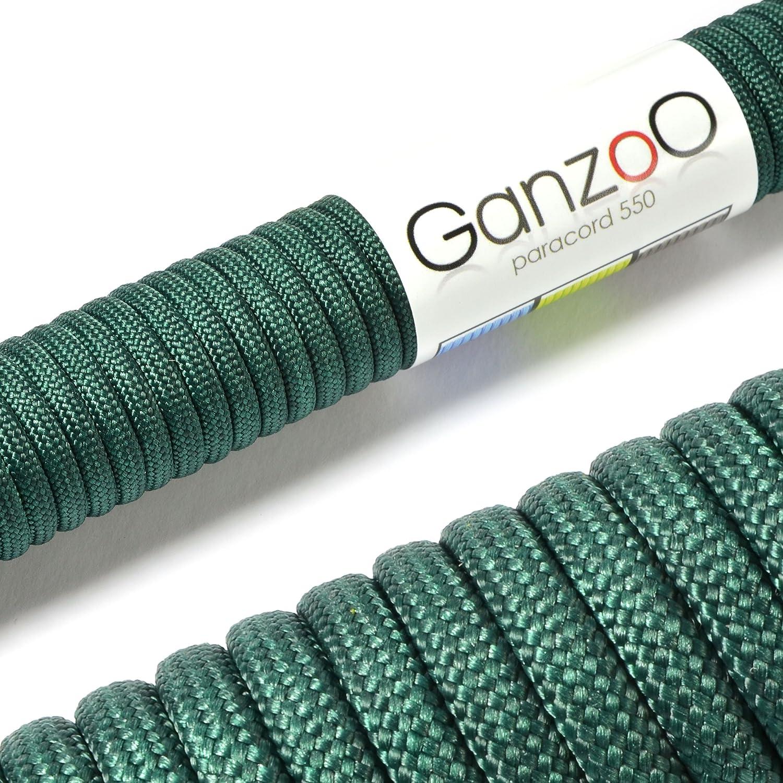 couleur: vert fonc/é longueur totale: 15m Paracorde 550 ATTENTION: NE PAS UTILISER CETTE CORDE POUR LESCALADE corde de parachute corde gain/ée en nylon de la ma corde de survie /à usages multiples et ultra-r/ésistante
