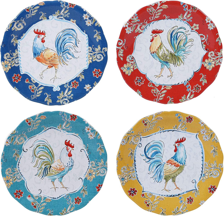 "Certified International Morning Bloom 11"" Dinner Plate, Set of 4, Multicolored"
