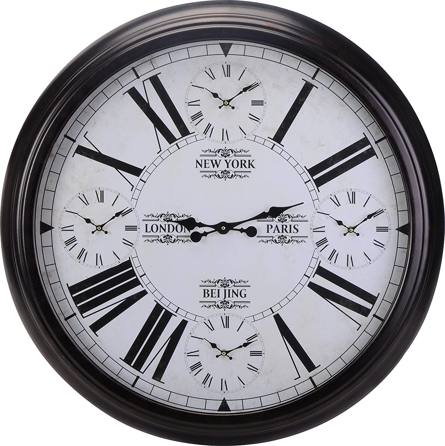 Extra Large World Time Wall Clock 93cm Amazoncouk Kitchen Home