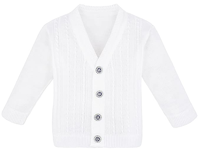 0550810facce Amazon.com  Lilax Baby Boy Cable-Knit Basic Knit Cardigan Sweater  Clothing