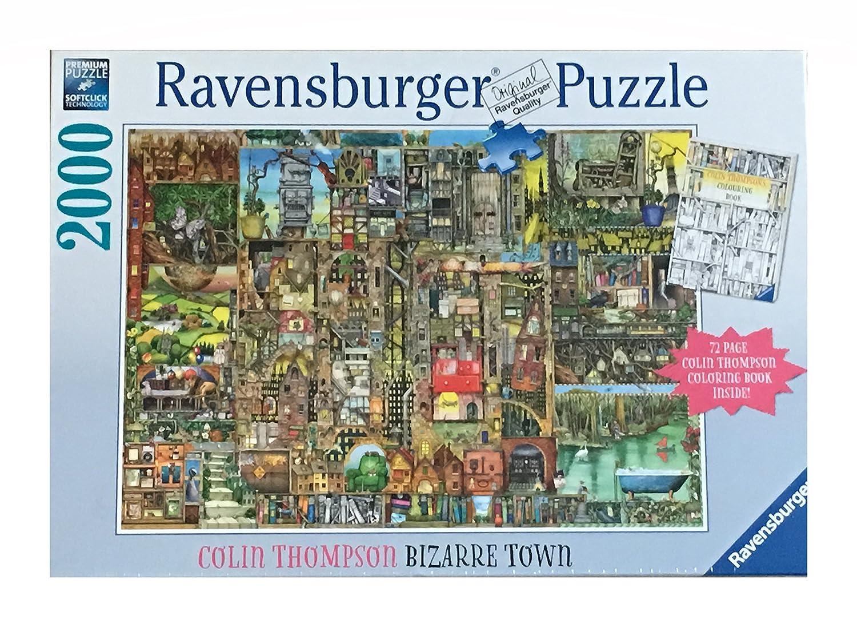 新しいエルメス Ravensburger by 2000ピースパズルand Coloring 72ページColin Book Set : Bizarre Town by Bizarre Collin Thompson – Includes 72ページColin Thompson Coloring Book B077VT3MMD, マシュマロ キッチン:6b28df5a --- a0267596.xsph.ru