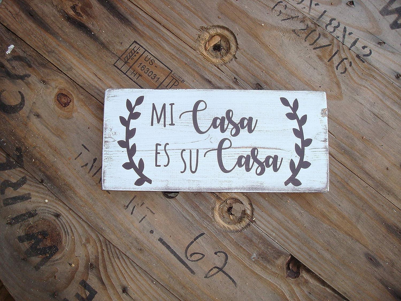 Amazon Com Adonis554dan Spanish Wood Sign Mi Casa Es Su Casa Hispanic Art Latino House Decoration Spanish Saying For Home Decorating Latino Wedding Decoration Home Kitchen