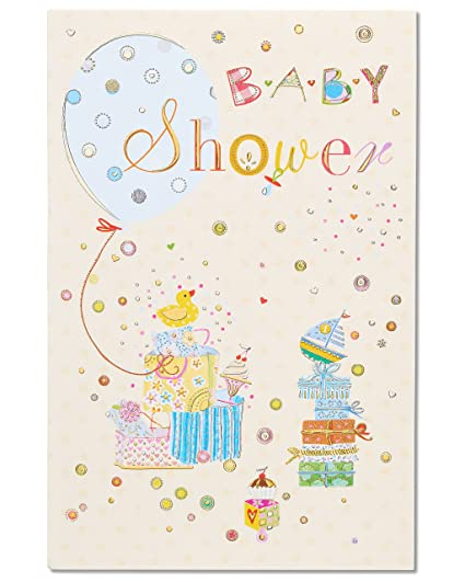 Amazoncom Celebration Baby Shower Congratulations Card With Foil