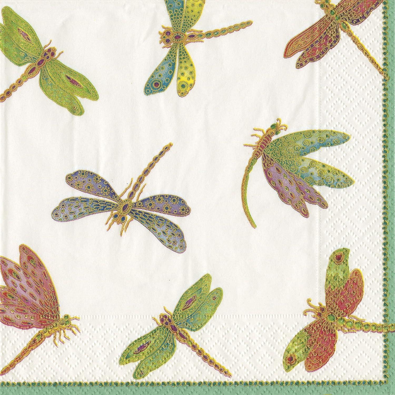 Entertaining with Caspari Dragonflies Paper Luncheon Napkins, Pack of 20 Caspari Inc. 9860L