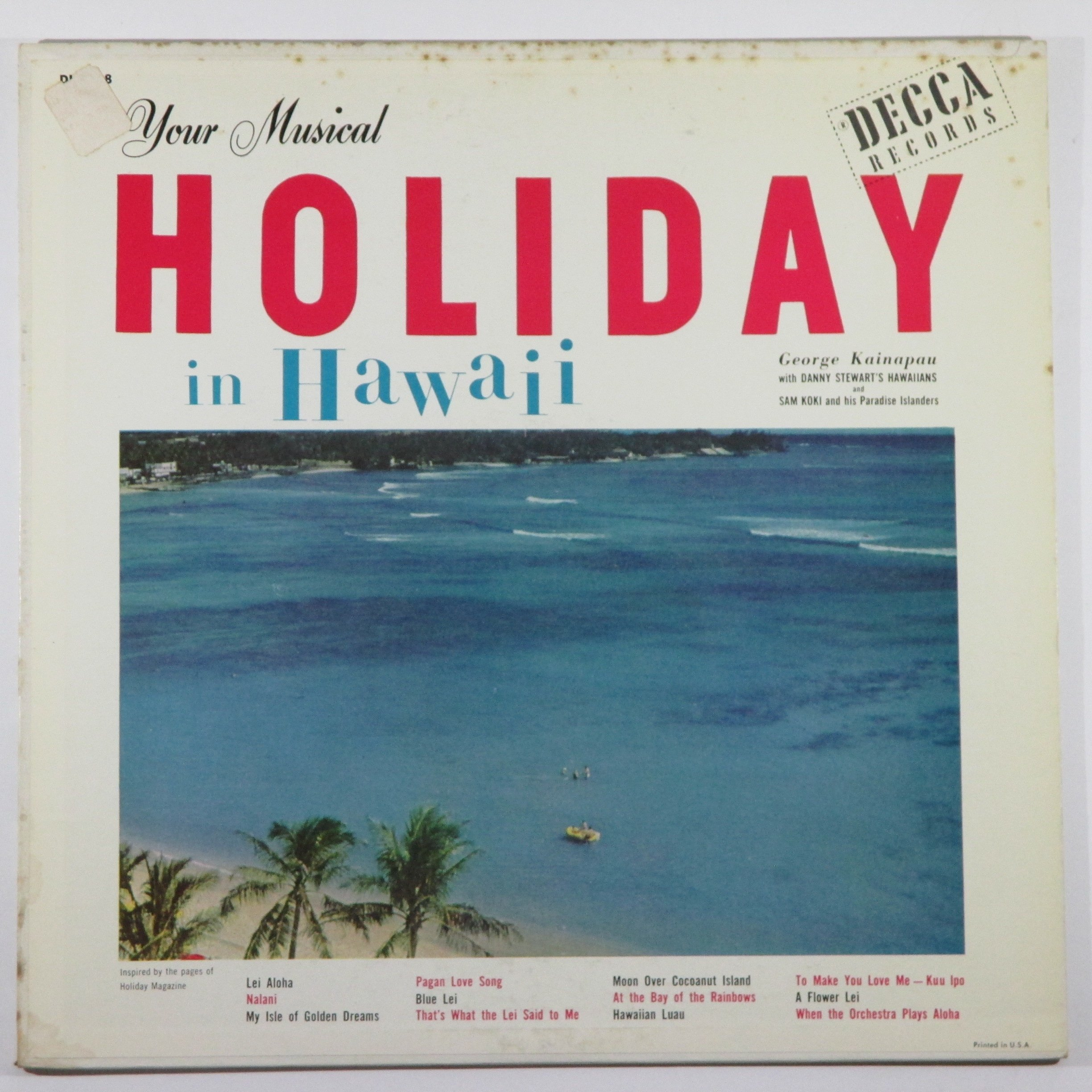 Your Musical Holiday in Hawaii by Decca DL 8138