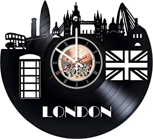 London England Vinyl Record Wall Clock - Home Room wall decor - Gift ideas for friends, boys and girls – City Unique Art Design