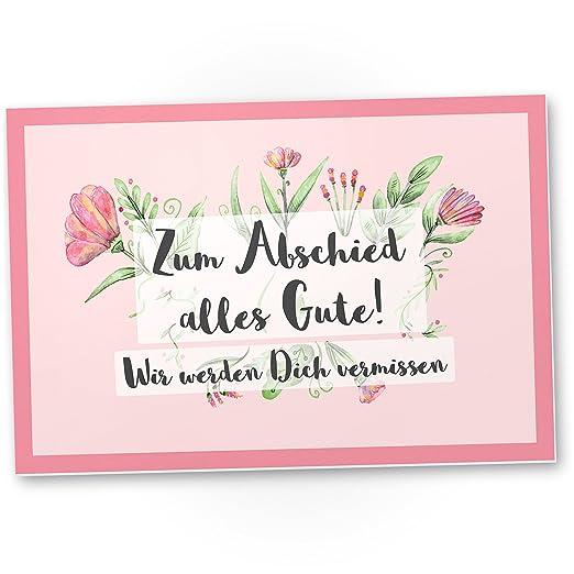 dankedir. zum Abschied alles Gute (Rosa) - cartel de ...