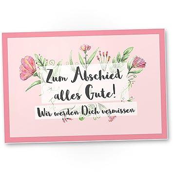 Dankedir Zum Abschied Alles Gute Rosa Kunststoff Schild