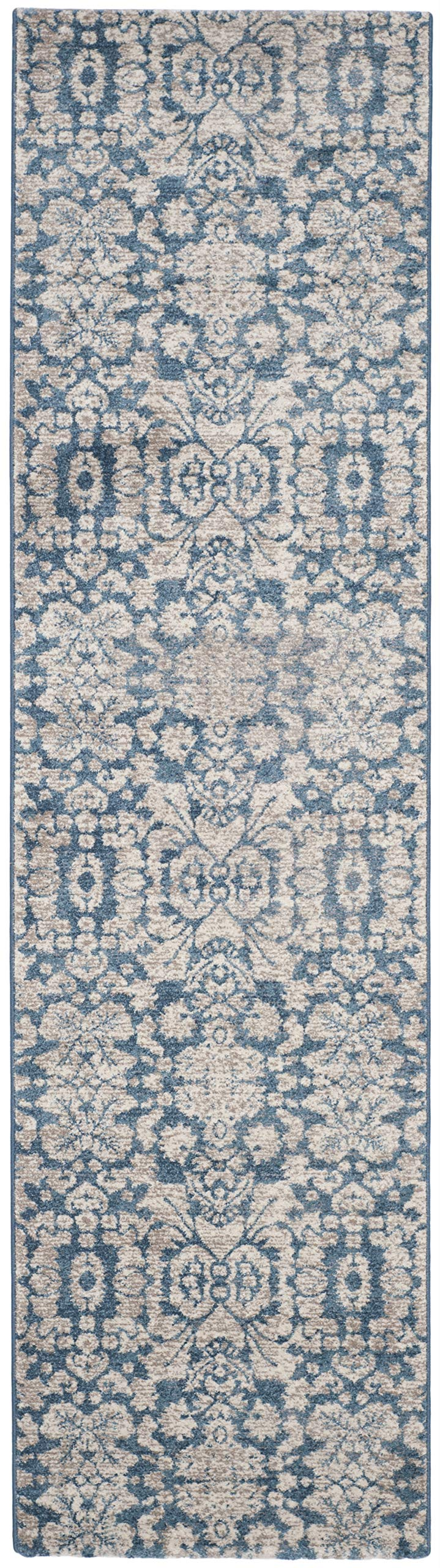 Safavieh Sofia Collection SOF381C Vintage Blue and Beige Distressed Runner (2'2'' x 8')