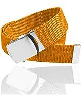 Luna Sosano Men and Women Cotton Canvas Web Belt - 2 Size Buckles (17 Colors)