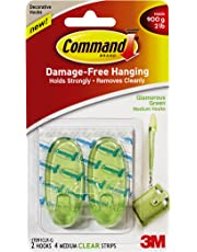 Command(TM) 17091CLR-G - Comando Medio Ganchos - Glamorous Verde