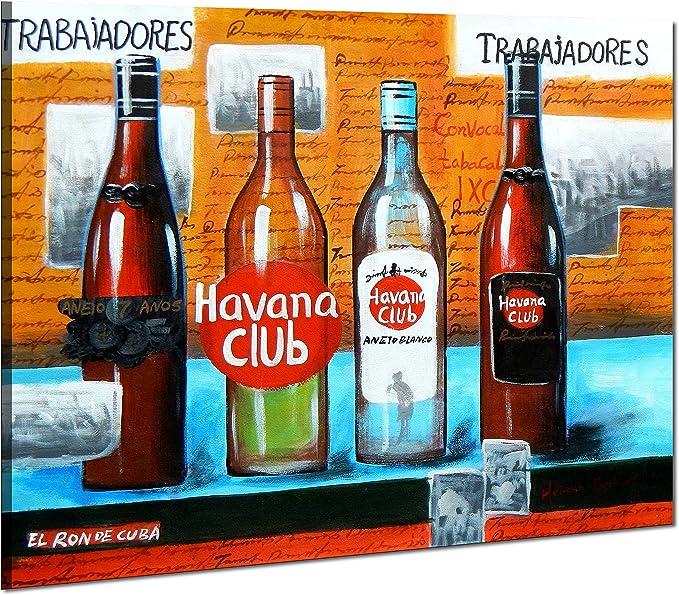 Cuba Havana Club Party - 50x60 - Pintura al óleo Lienzo ...