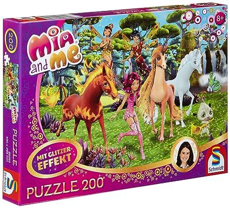 Mia im Elfenpalast Mia and Me Glitzerpuzzle Spiel Mia and me 200 Teile Deutsch