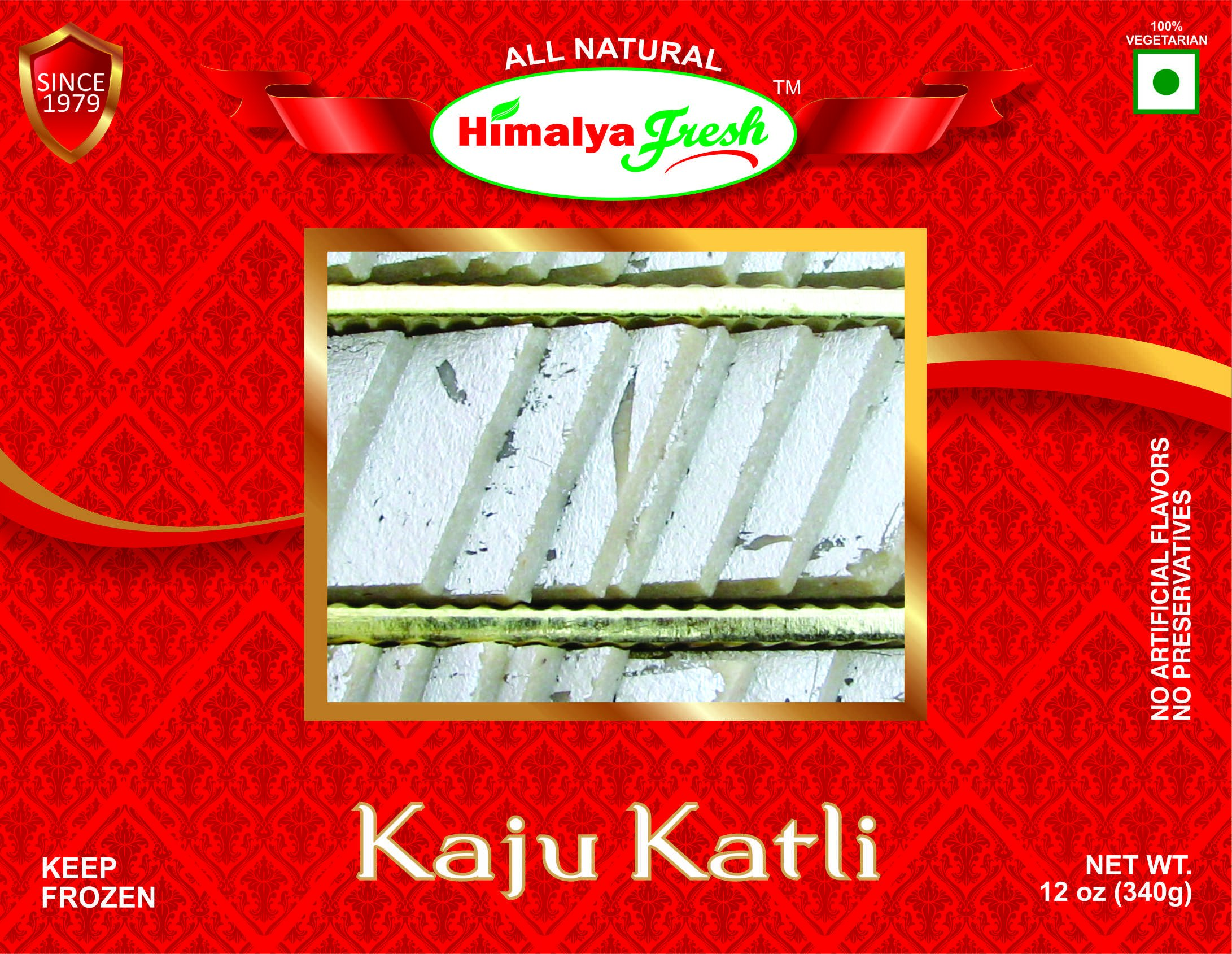 HIMALYA FRESH Kaju Katli 12oz - Premium Authentic Indian Food & Sweets Made With Cashew Nuts. Just two ingredients Cashew Nuts and sugar - No Fillers Or Preservatives (1 Box) by Himalya Fresh