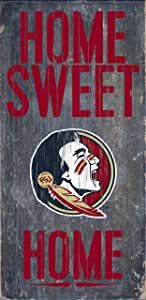 """Fan Creations Florida State Seminoles Wood Sign - Home Sweet Home 6""""x12"""""""