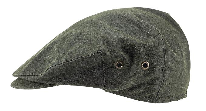 Hanna Hats of Donegal.Irish Flat Cap.Donegal Tweed.Green Wax Cotton ... 2e2d26f214c