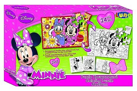 Vamos 2 caras 060470 – Puzzle para colorear (+ 3 Posters – Minnie Mouse –