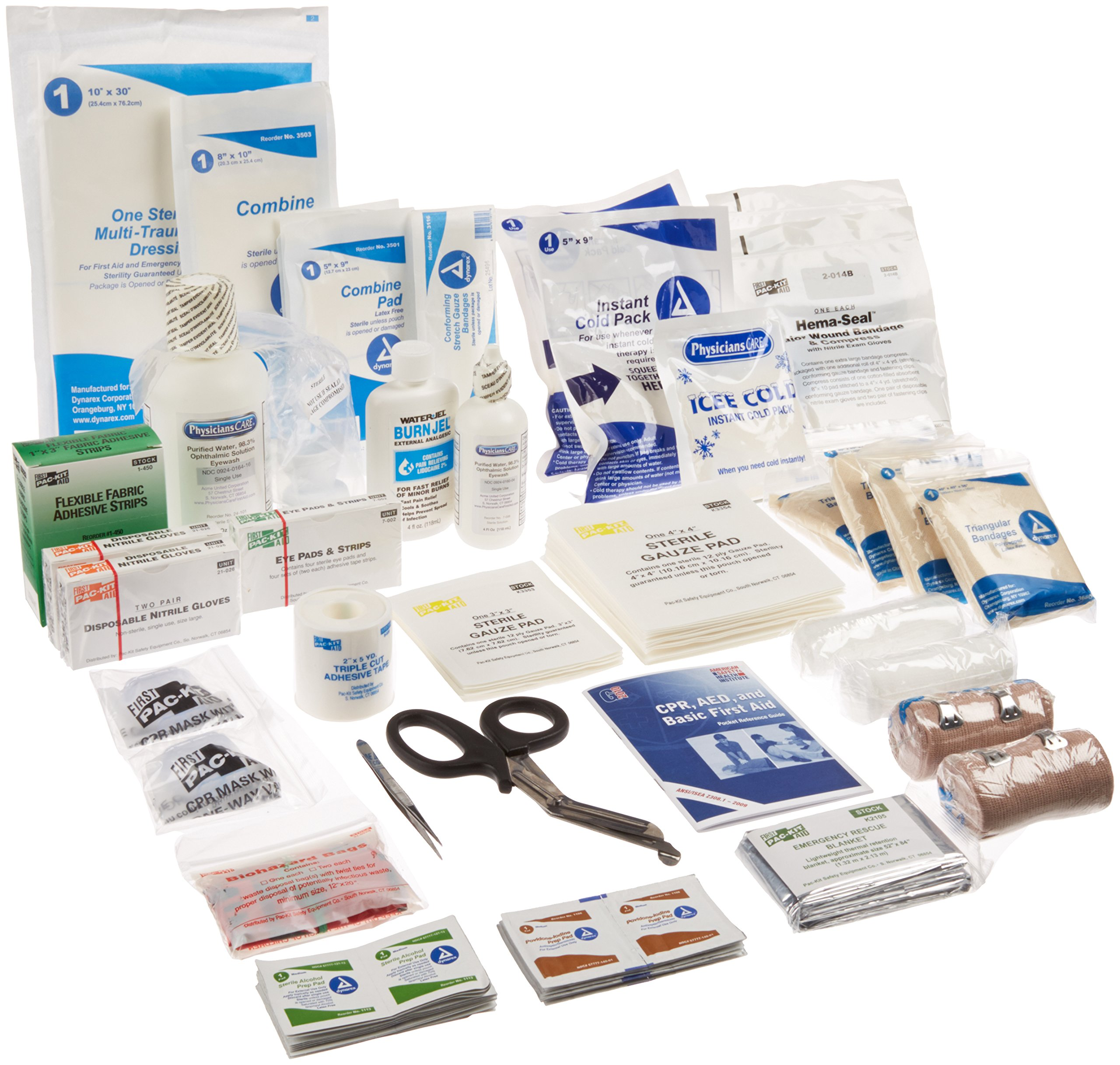 Pac-Kit by First Aid Only 3500/R 151 Piece EMS Bag with Expanded Refill Kit