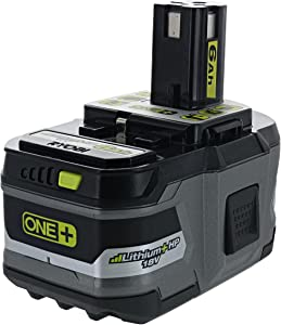 Ryobi P193 6.0 Amp Hour 18V Lithium Ion Battery w/ Onboard Fuel Gauge