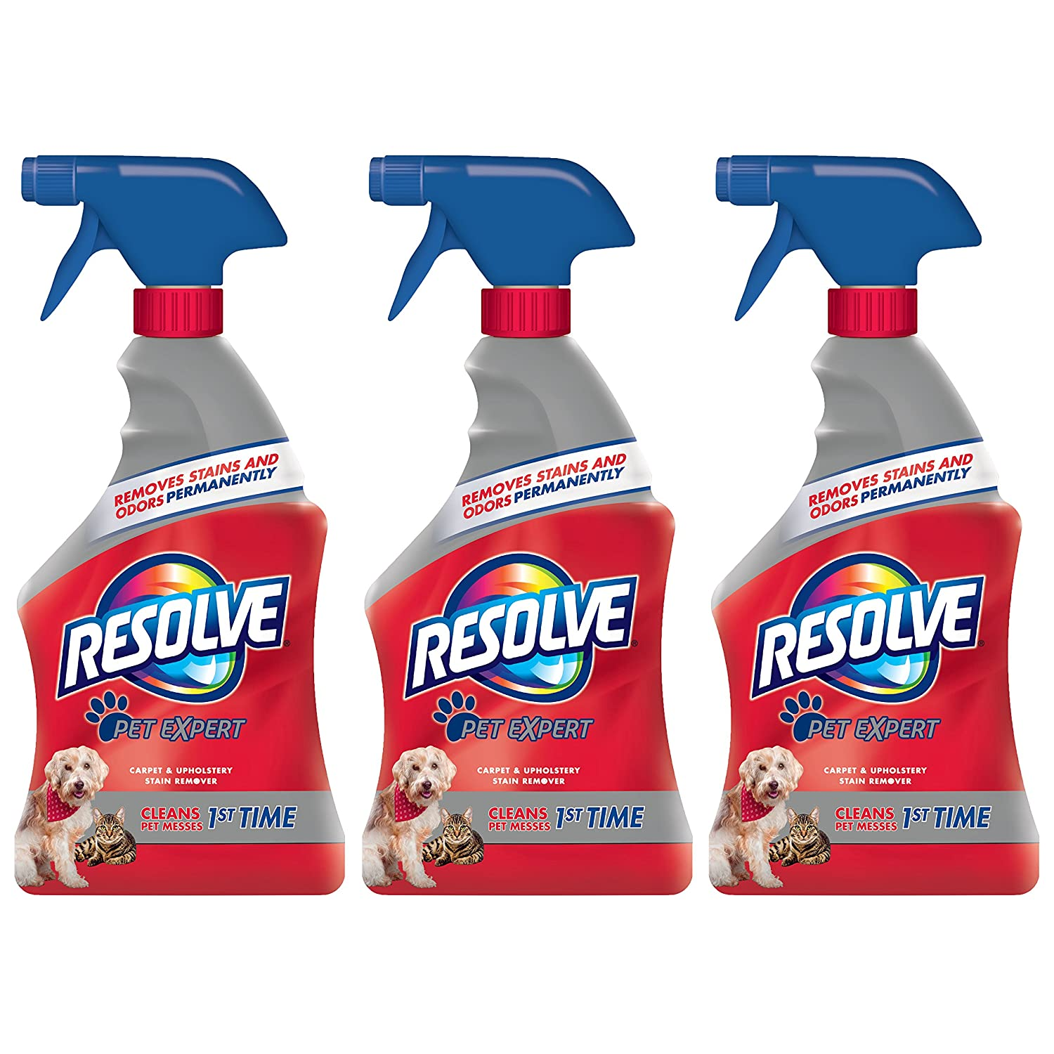 Amazon.com: Resolve Pet Expert Carpet U0026 Upholstery Stain Remover Spray, 16  Ounce, (Pack Of 3): Health U0026 Personal Care