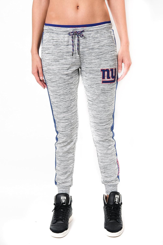 ICER Brands Adult Women Jogger Pants Active Basic Fleece Sweatpants Large Gray Space Dye