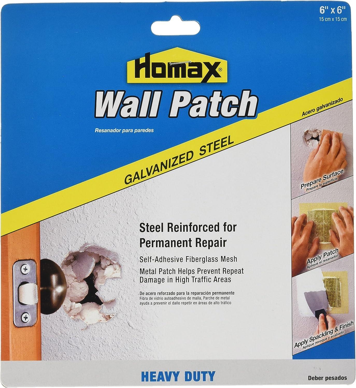 Homax Group Inc Homax Group 5506 Heavy Duty Self Adhesive Wall Repair Patch, x 6-Inch, 6 x 6
