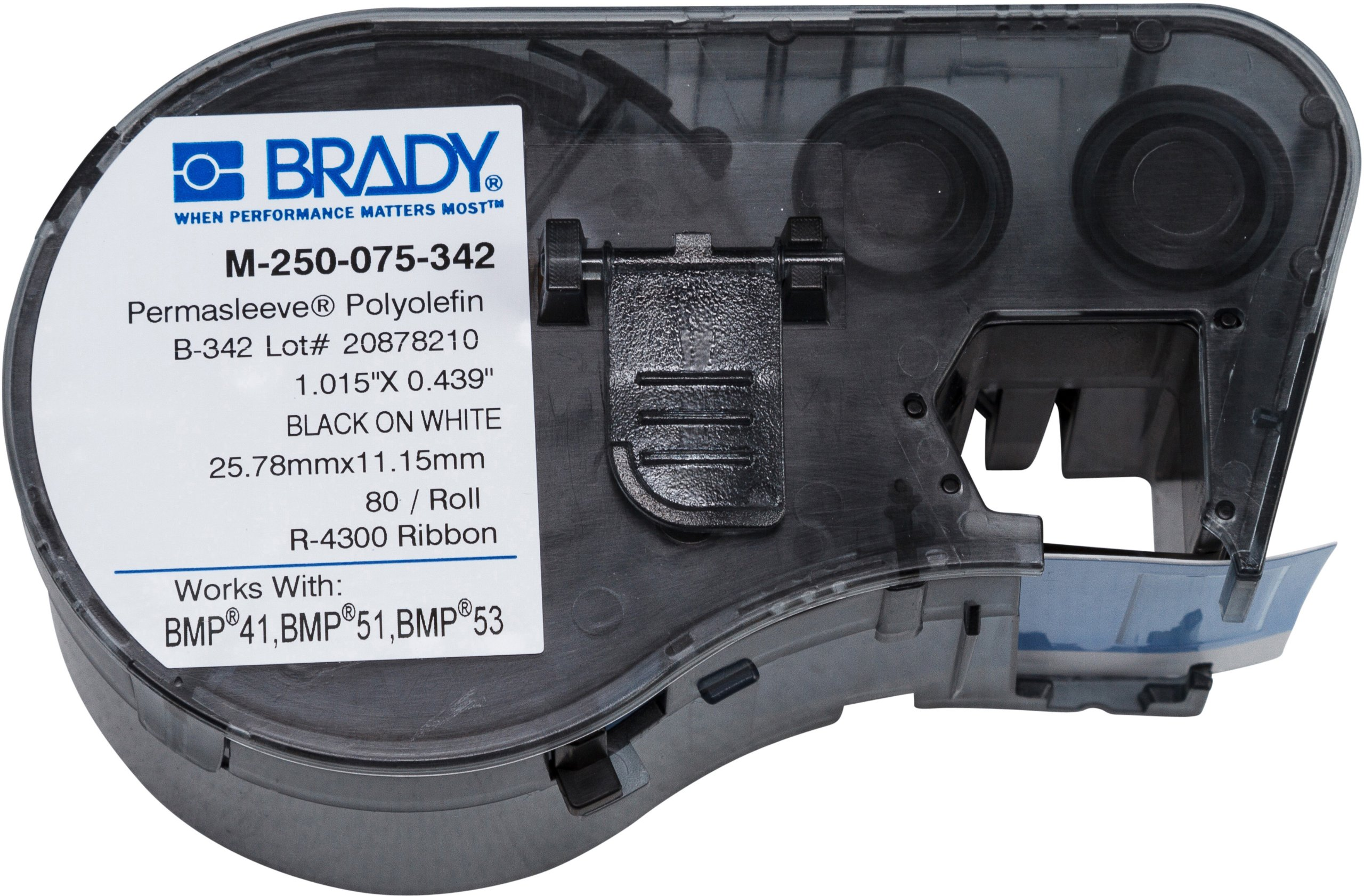 Brady M-250-075-342 Labels for BMP53/BMP51 Printers