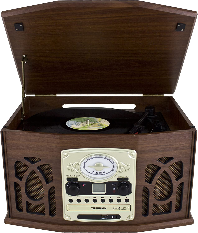 Telefunken TCD200M – Equipo de música con Tocadiscos (Radio FM, CD ...