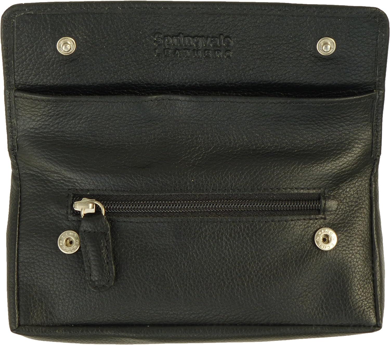 Hide /& Sleek Leather Goods Qualit/é /étui cuir fin Blague /à tabac avec doublure en caoutchouc
