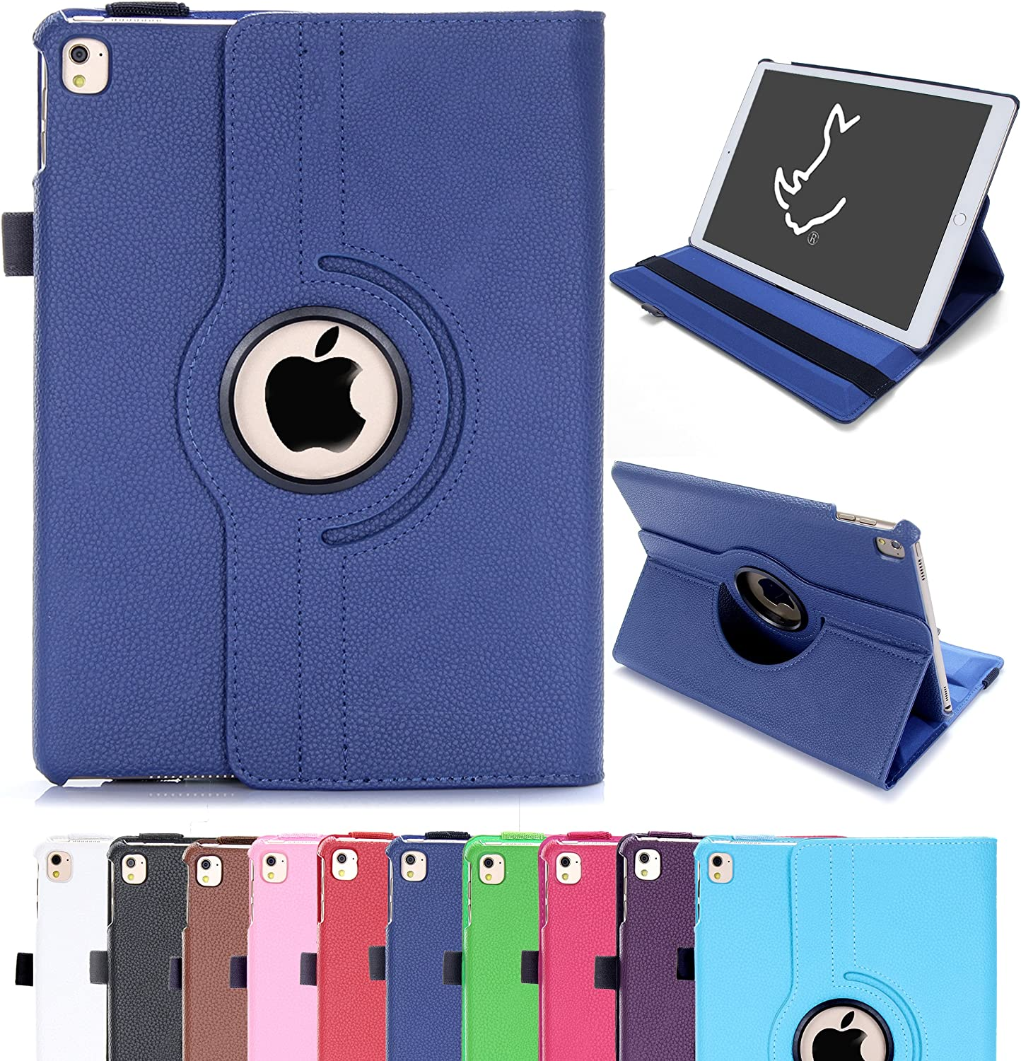 Leather 360 Rotating Smart Stand Case Cover For APPLE iPad Cases