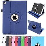 iPad Air 2 Case, RC iPad Air 2 / iPad 6 360 Rotating Smart Case PU Leather Cover Stand for Apple iPad Air 2 Sleep/Wake (Navy)