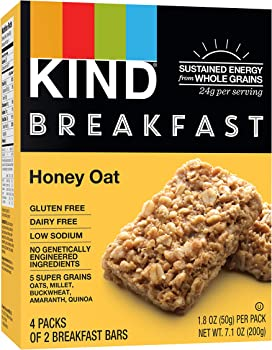 32 Count of 1.8 Ounce KIND Honey Oat Gluten Free Breakfast Bars