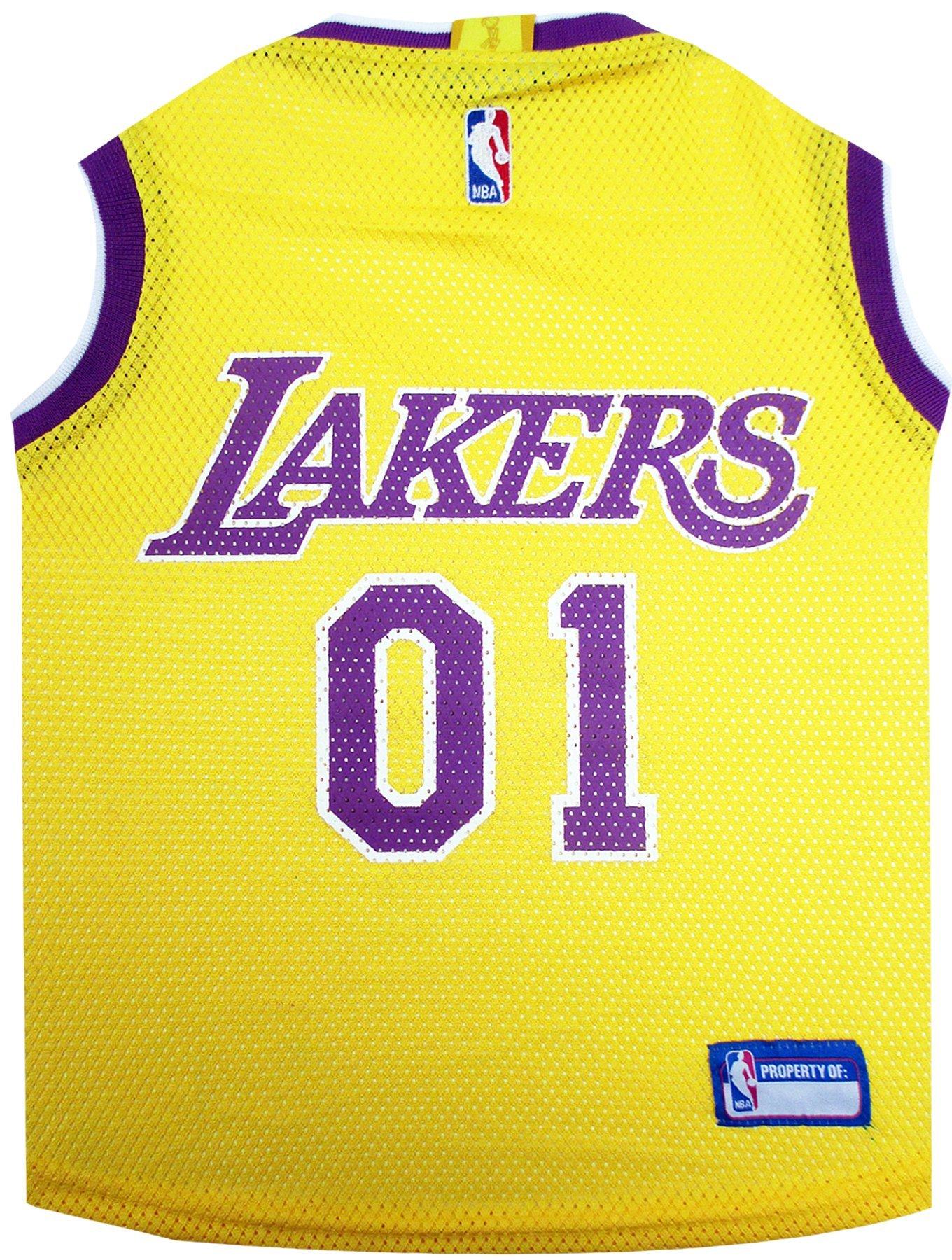 NBA LOS ANGELES LAKERS DOG Jersey, Medium - Tank Top Basketball Pet Jersey